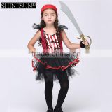 2016 Hot selling pirate girl costume kids halloween costume carnival party girls pirate costume