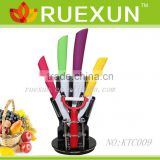 KTC009 - Hot Sale with Acrylic block 5pcs Kitchen Ceramic Knife Set