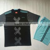 Polyester dry fit soccer kit top quality soccer sports shirts mens soccer wear