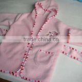 coral fleece baby sleepwear with applique