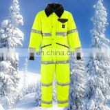 Waterproof ski wear in cold room freezer suit with cotton padded coverall in winter snow clothing