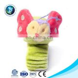 Cute Elephant Plush Wrist Rattle For Baby Infant Development Toys