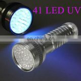 Violet 41 UV LED Flashlight Blacklight Torch Light Lamp Scorpion Detector 395nm