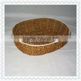 oval-shape weaving decorative storage paper rope basket