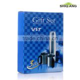 China mass wholesale 3pcs promotional souvenir gift set 1pcs 500ml vacuum flask 2pcs 220ml coffee cups