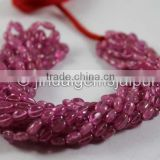 Wholesale Super Fine Quality Pink Sapphire Smooth Oval Beads