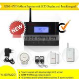 NEW GSM+PSTN wireless gsm alarm system with LCD display and wireless strobe light
