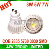 Energy saving led bulb gu10 COB chip 2800k 3000k warm white 5W 6w led mr16 spotlight with high quality