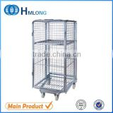 Industrial metal storage roll containers