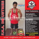 Y-Back Singlet Shirt Workout Stringer Muscle Vest Men Gym Apparel Bodybuilding Tank Top Clothing by FHA INDUSTRIES PAKISTAN