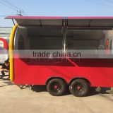 11*6.5white food cart trailer mobile food cart beach food truck hot dog Hamburg ice cream traction cart Mechanical brake configu