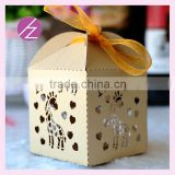 Laser cut wedding favor candy boxes chocolate box manufacturer TH-126