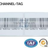 High quality new EAS RF sticker label with fake barcode for anti theft