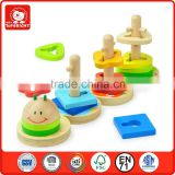 High quality Bright color and Fashion design Top Bright 3d puzzle wooden toy