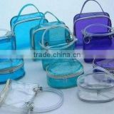 soft Clear PVC Bag for Cosmetic Packing, Cosmetic Bag With Zipper Closure(European standard and direct manufacturer)