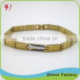 Copper/brass Fashion Jewelry 18k gold plated bracelet bangles
