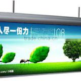 Edgelight led light box logo sign double sides visible display board, hanging frame for sign advertising lightbox