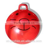 Good sale colorful pvc exercise jumping ball toy jumping pop ball with handle