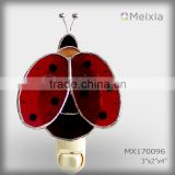 MX170096 tiffany style stained glass ladybug night light for wall home lighting wholesale