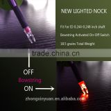 2015 LED Lighted Arrow Nock 6.2-6.3mm Bowstring Activated on-off switch