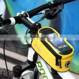 Yellow Cycling Bike Bicycle Carry Phone Case Frame Front Tube Bag bicycle bags