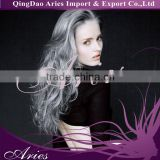 70cm Long Wavy grey Hair Anime Cosplay Wigs Fancy Cosplay lace front Wig