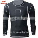 Hot sell of China custom design sports skin tight wholesale running wear long sleeve compression shirt