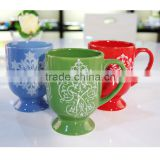 Ceramic glaze color Christmas beer mug