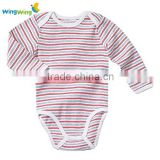 High quality organic cotton plain solid baby bodysuit romper