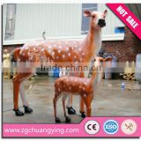 outdoor life size statue fiberglass deer sculpture