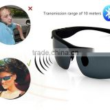 10 Hours Music Playing Stylish Sunglasses Bluetooth Headset with Stereo Bluetooth and Can Answer Phone Call
