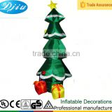 DJ-156 4 foot outdoor airblown mini decorated led christmas tree and santa claus decoration inflatable