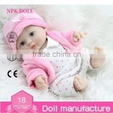 NPK DOLL 8inch Mini Dolls Small Lifelike Baby Toys Full Vinyl Plastic Chubby Doll Cheap Doll