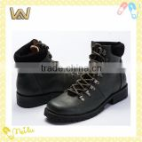 man's Top-grade black leather upper Jungle Boots/ military ankle boot WXL-J74001