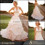 custom popular newest hot sell high quality turkey istanbul lace long train wedding dress