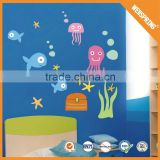 Promotional gift wholesale custom size 3d fish wall stickers home decor