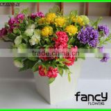 2013 new arrival 10 heads qualitysmall cheap silk artificial daisy flower bushes making for wedding&home decoration