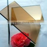 4mm Bronze,Blue Reflective Glass for Window Pane