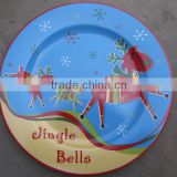 Christmas kitchen crockery custom logo ceramic plates dishes                                                                                                         Supplier's Choice