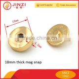 18mm thin/thick metal magnetic snap button                                                                         Quality Choice