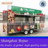 2015 hot sales best quality three axles food cart traveling food cart tri-axles food cart