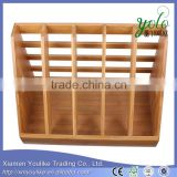 2016new style Magazine Organizer Bamboo Desktop File Folder Rack