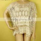Cotton lace for garment~Ecru~X8235~guangzhou garment~new design fashion cotton lace fabric