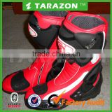 Fashion And Safety Riding Red Motorcycle Boots Made In China
