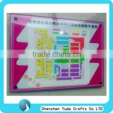 big wall photo frame water proof acrylic big sign board for company exit sign cheap high quality