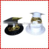 Black and white decorated graduation caps wholesale