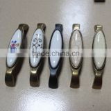 Rectangular Antique Zinc Alloy and Ceramics Cabinet/Drawer/Closet Handle /Furniture Handle
