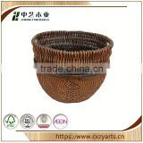 Fashionable best selling Accept OEM rustic hinging rectangular round wicker basket no handles