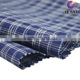 Cotton Indigo Yarn Dyed Checks Indigo Shirt Fabric