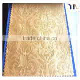 high quality 100% polyester suede embossed blackout fabric for curtain interior decoration Hangzhou wholesale